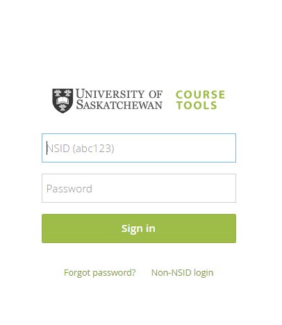 learning management system login page